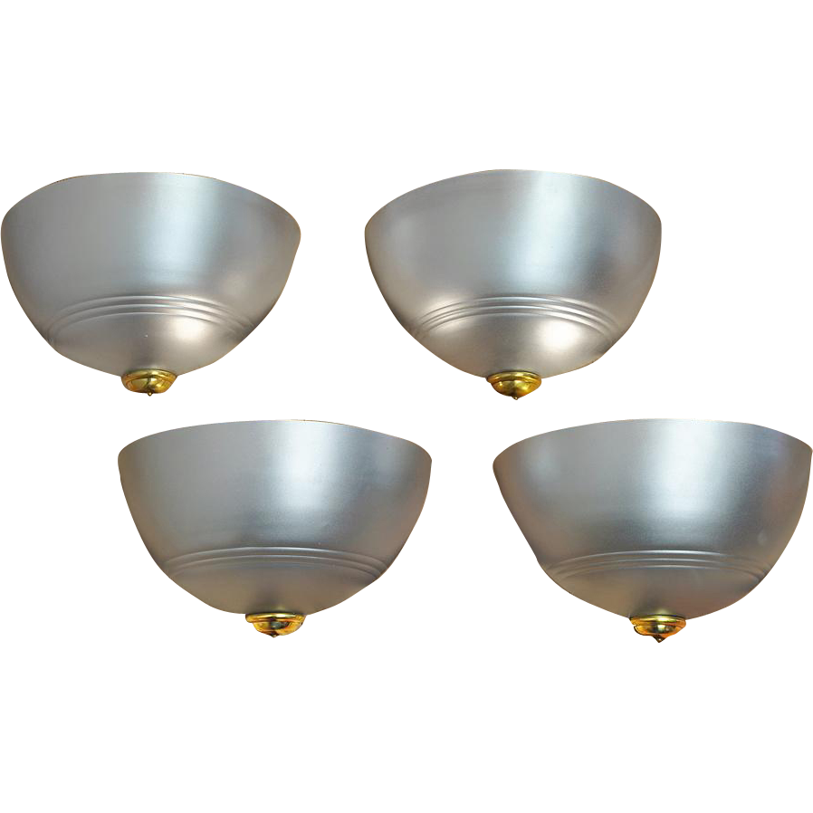 Art Deco Wall Sconce Light Fixtures : Streamline Art Deco Wall Sconces Set of 4 Modern Lights Fixtures from vintagehardware-lighting ...