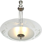 MidCentury Modern Vintage Chandelier Lens Bowl Ceiling Light Fixture (ANT-635)