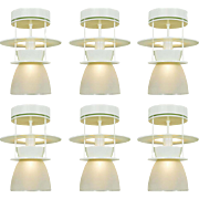 Set of Six Atomic MidCentury Modern Ceiling Lights Semi Flush Mount (ANT-735)