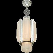 Vintage 1930s Art Deco Pendant Ceiling Light Chandelier by Lightolier (ANT-772)