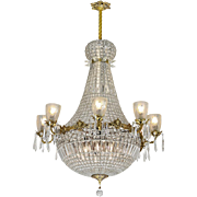 Vintage Crystal Chandelier Large Ballroom Prism Ceiling Light Fixture (ANT-846)