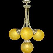 Art Nouveau or Deco Circa 1900 - 1910 Chandelier 4-Arm French Fixture (ANT-884)