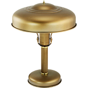 Art Deco Streamline Table Lamp Metal Shade Rewired Vintage Desk Light (ANT-891)