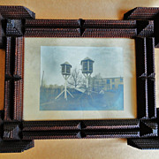 Multi-Layered Tramp Art Frame with Birdhouse Photo