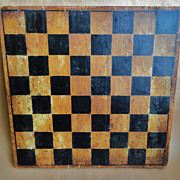 Early 20th C. Painted Gameboard