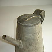 American Tin Coffee Pot ~ 19th century