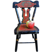 19th C. Paint Decorated Child's Chair from Pennsylvania