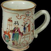 Chinese Export Famille Rose Mug ~ ca. 1750