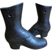 Pair of Cast Iron Mannequin Shoes