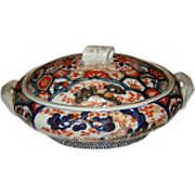Japanese Imari Covered Dish  Ca. 1850