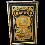 New York Coach Oil Trade Sign c. 1900