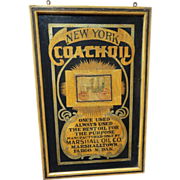 New York Coach Oil Trade Sign c. 1900
