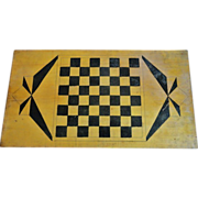 Wooden Checkerboard in Original Paint