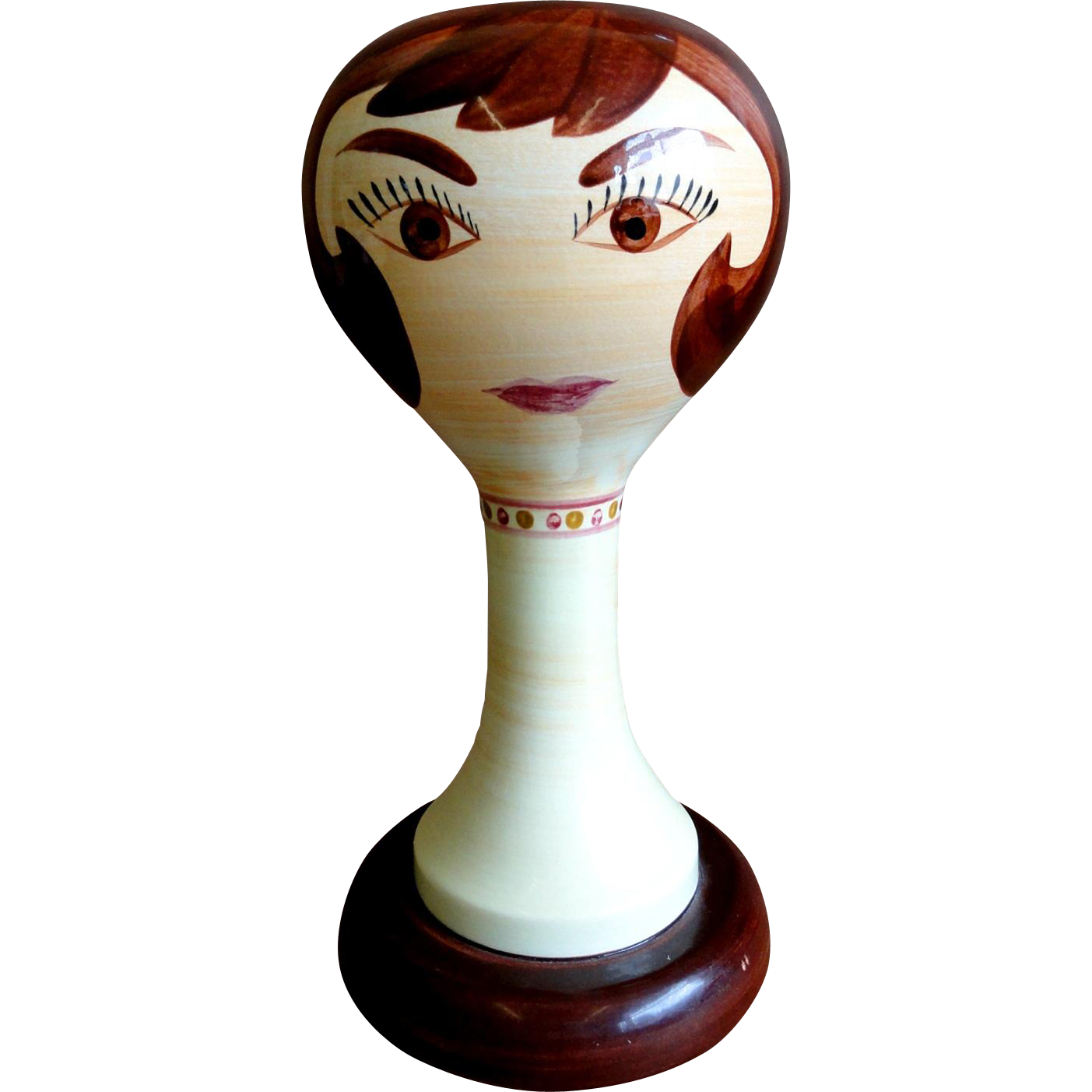 Pottery Wig Stand 22