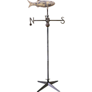 19th Century Cod Fish Weather Vane with Directionals