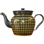 Art Deco French Enamelware Teapot