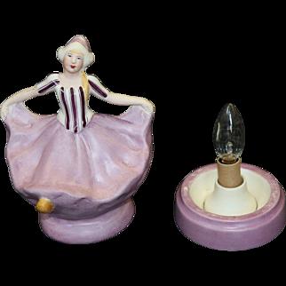 Hand Painted Fulper Porcelain Art Deco Perfume Lamp