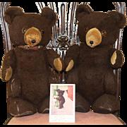 A Pair of Vintage 1930s AmericanTeddy Bears