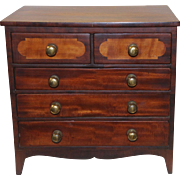 Ca 1810 Hepplewhite Style Cabinet Maker's Sample Miniature Chest of Drawers