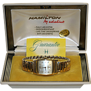 Hamilton Medalist 14K Gold Filled Men's Wristwatch in Original Box