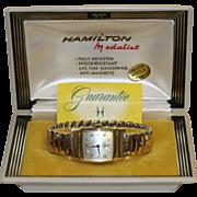 Hamilton Medalist 14K Gold Filled Men's Wristwatch in Original Box
