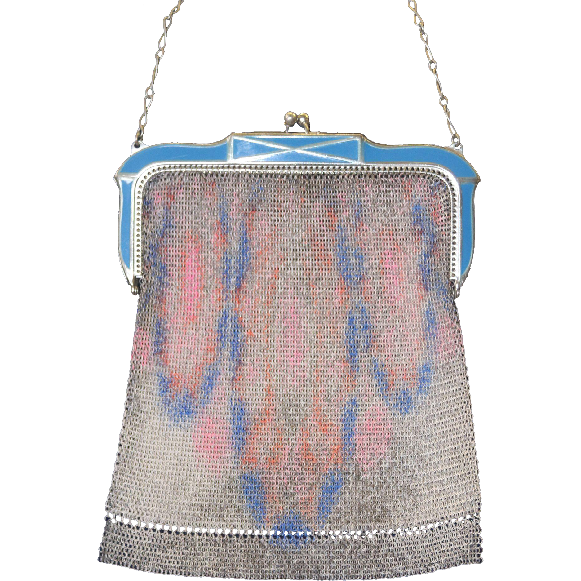 Vintage Whiting And Davis Mesh Purse 119