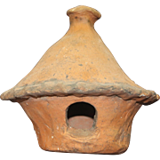 Rare Mid 19th Century Folk Art Redware Birdhouse