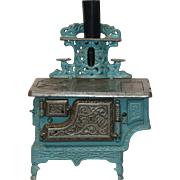 "Antique ""Crown"" Cast Iron Enameled Toy Stove circa 1900"