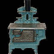 "Antique ""Crown"" Cast Iron Enameled Toy Stove circa 1900"