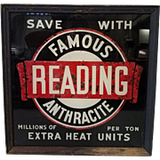 Vintage Famous Reading Anthracite Lighted Trade Sign