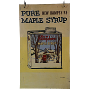 Vintage Enamel New Hampshire Maple Syrup Two Sided Advertising Sign
