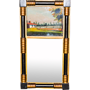 Late 19th Century Reverse Painted Federal Mirror