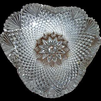# 1165 Cut glass bowl