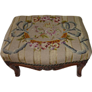 # 1269 Needlepoint footstool