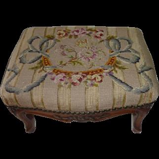 # 1269 Needlepoint footstool