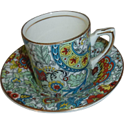 Chintz Demi tasse cup and Saucer