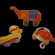 Three pull toys  # 1349