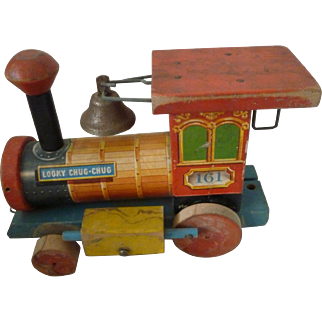 Fisher Price wood Locomotive