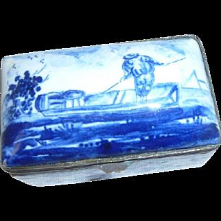 Delft Table Snuff  or trinket Box