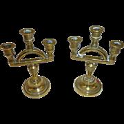 Pair of Miniature brass Candelabras