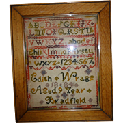 Small 19th. century sampler - Red Tag Sale Item