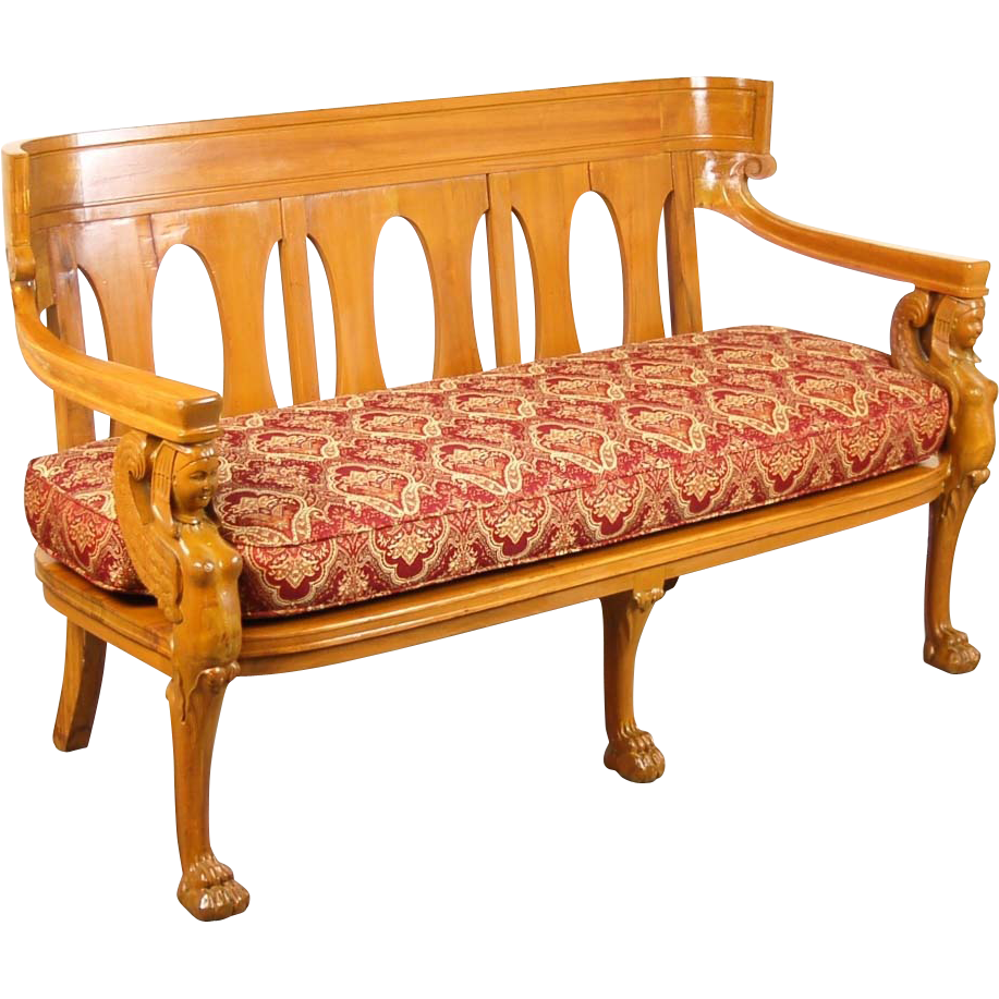 Vintage Empire Egyptian Revival Settee Bench From Colinreedantiques On Ruby Lane