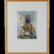 """""""Byzance"""" Limited Edition Aquatint Etching sgnd Nissan Engel Israeli Artist"""