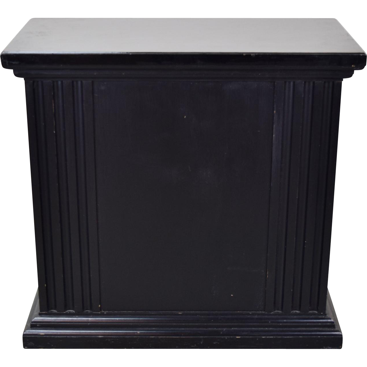 Rectangular neoclassical fluted black pedestal or for Fluted pedestal base