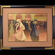 """Louis Abel-Truchet """"Les Danseuse"""" Color Lithograph Women Couples Dancing"""