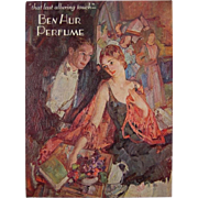 1920's Vintage Ben Hur Perfume Advertising Poster Counter Window Card