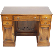 Vintage Georgian Style Mahogany Double Pedestal Kneehole Desk