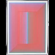 """Sequential VI"" 1972 Richard Anuszkiewicz OpArt L/E Serigraph Sgnd"