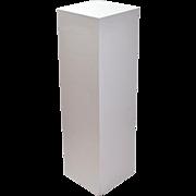 Vintage White Sanded Plywood Sculpture Plant Stand Pedestal