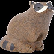 """John Seymour """"Sey"""" Art Pottery Sculpture Abstracted Modernist Raccoon Figure"""
